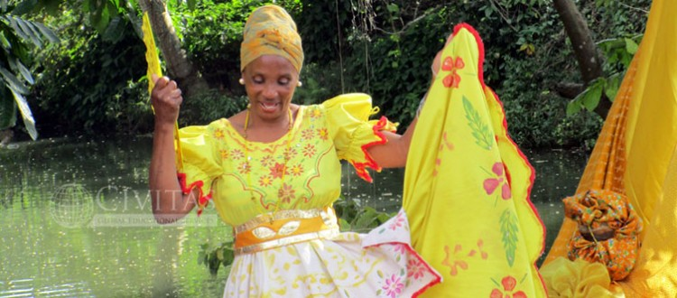 Dancer at Tribute to Ochun during Civitas Afro-Cuban Cultures and Religions